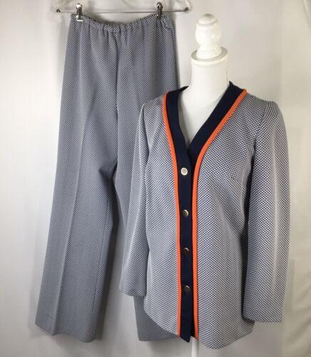 Vintage Pantsuit~Women's~Polyester~60s~70s~Wide Le