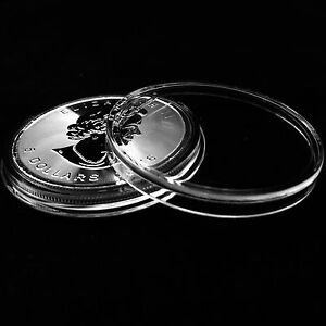 ~30 Direct Fit 38mm Coin Capsule For Canada 1 oz Silver Maple Leaf
