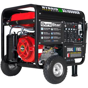 DuroStar DS10000EH 10,000W 439cc Dual Fuel Hybrid Generator w/ Electric Start