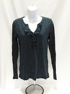 Women-039-s-XS-Blue-Ann-Taylor-Loft-Long-Sleeve-Knit-Top