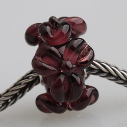 5pcs Big Flower Murano Glass Bead lampwork Fit European Charm Bracelet