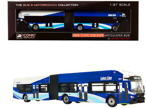 NEW-FLYER-XCELSIOR-ARTICULATED-BUS-GRAND-RAPIDS-MI-1-87-ICONIC-REPLICAS-87-0197