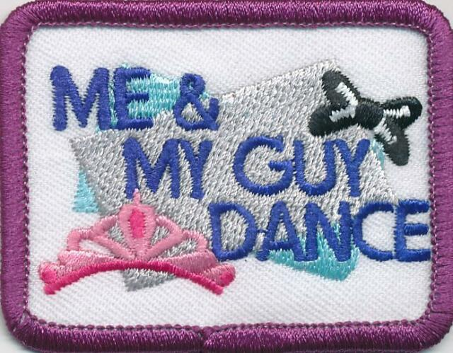 Girl ME AND MY GUY DANCE /'19 2019 Fun Patches Crests Badges SCOUT GUIDE Party