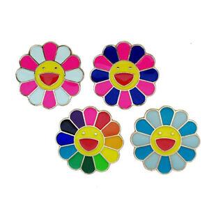 d2ce2b2b6 Image is loading NEW-takashi-murakami-Flower-Rainbow-Pin-Badge-kaikai-