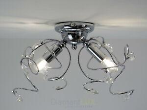 Plafoniere Cristallo Roma : Lampadario plafoniera moderna in cristallo e metallo cromato da