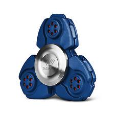 Blue CKF EDC Hand Fidget Spinner Titanium Alloy Finger Gyroscope Focus Toy Gift