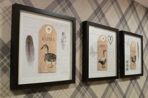 Home-Seet-Home-Set-of-3-Framed-Prints-Wall-Art-Pictures-Home-Decor-Accessories