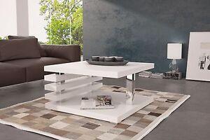 Table-Salon-Table-Basse-Donna-sofatisch-Table-d-039-appoint-Noir-Blanc-37-45-51cm