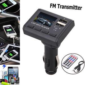 Car-Music-MP3-Player-FM-Transmitter-Modulator-Dual-USB-Charging-SD-MMC-Remote-US