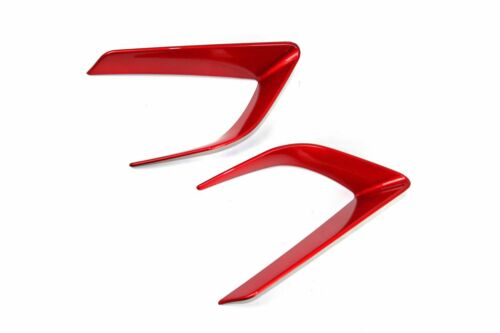 Painted Red For Subaru WRX STI 4th Front Headlight Eye Trim Cover 2015-2016