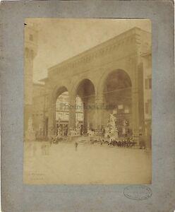 Florence-Firenze-Loggia-Dei-Lanzi-Italia-Foto-V-Paganori-Vintage-Albumina