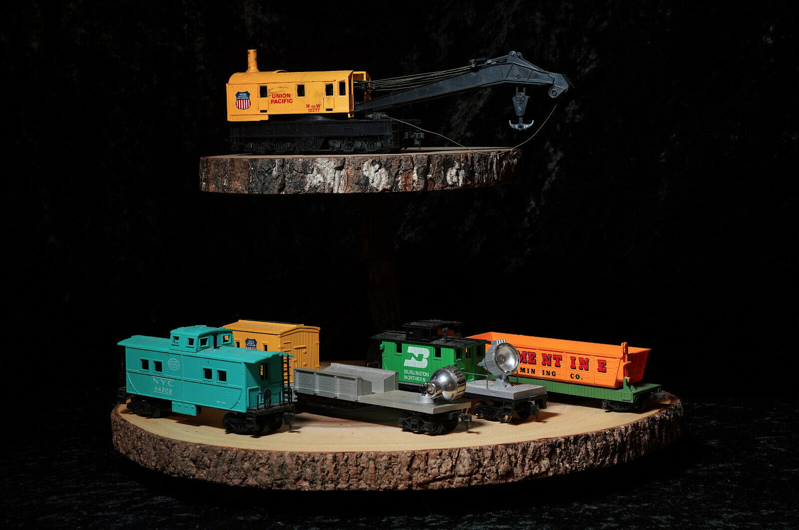 Vintage railway auto rail train ho railstrada CRANE Searchluci Union Pacific Etc