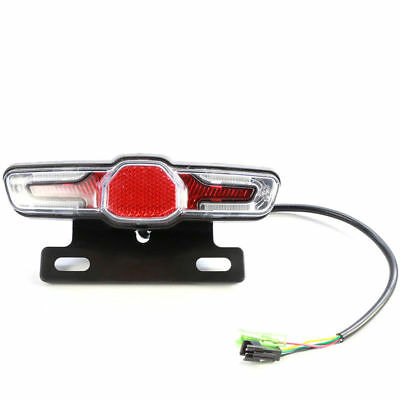 60V Bike Tail Light LED With Turn Signal Rear Rack Lamp Electric Bicycle Light