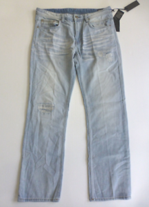 32x32 Driven 627650365527 David Fit Straight Bitton Jeans Jeans Taille Nouveau Buffalo Distressed B1xqU