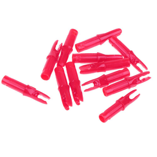 Pink 12 Packs Archery Bow ID 6.2mm Arrow Shaft Pin Insert Tails End