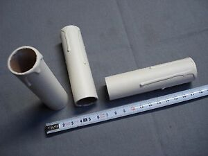 en carton réf L85 1 fausse bougie fourreau 24 x 85 mm gouttes blanc antique