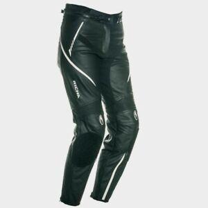 Richa-Nikki-Jeans-Ladies-Black-Leather-Motorcycle-Trousers-New-RRP-249-99