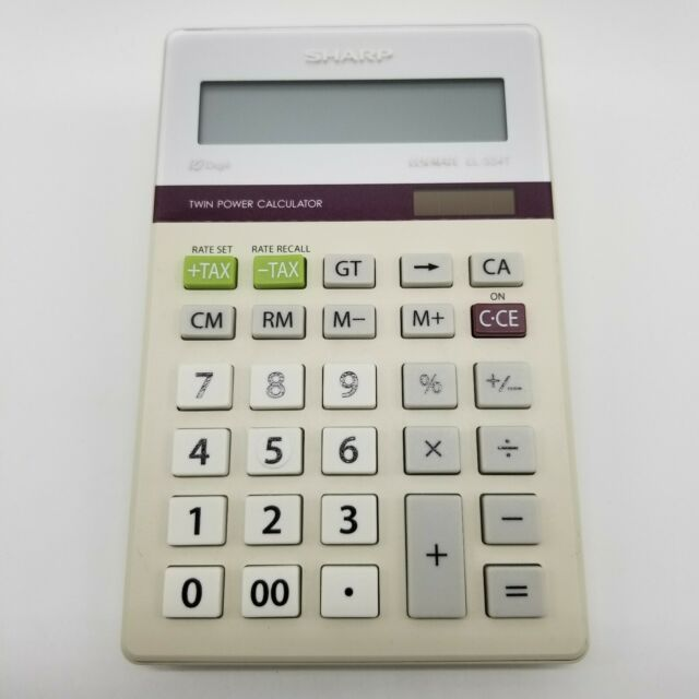 Sharp ElsiMate EL-334T 10 Digit Twin Power Calculator with Tax Rate