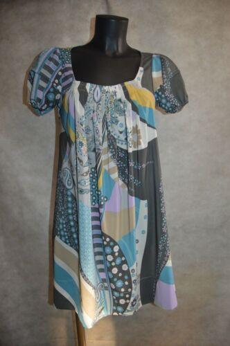 Soie S Taille Maje Etat vestido kleid Robe Tunique Bon 36 abito Dress Tres silk qUfxzw