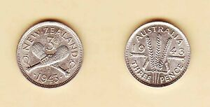 1943-Australia-Three-Pence-Australia-New-Zealand-0-925-Silver-High-Grade
