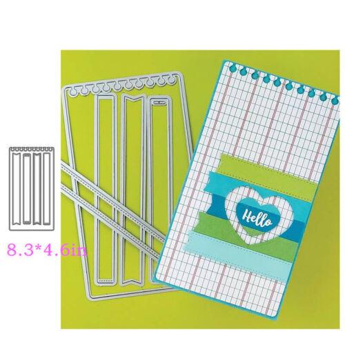 Stitched Slimline Tags Banner Frame Metal Cutting Dies Stencils Diy Scrapbooking