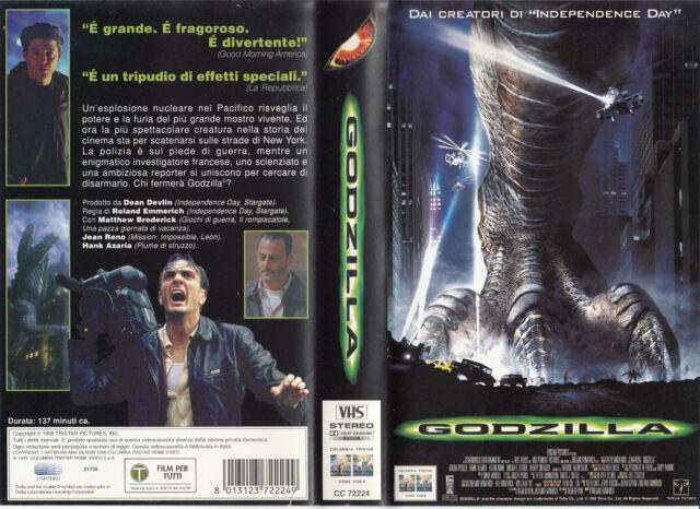 GODZILLA (1998) VHS VERSIONE NOLEGGIO