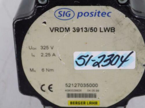 SIG BERGER LAHR POSITEC 325V 2.25A STEPPER MOTER VRDM 3913//50 LWB