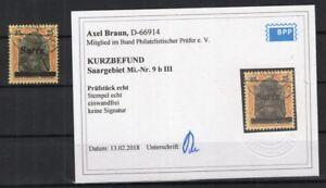 Saar-9biii-Luxury-Postmarked-BPP-Certificate-A6698