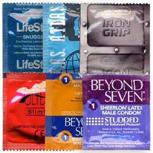 36 Small Condom Snugger Fit Sampler Pack - 6 STYLES!