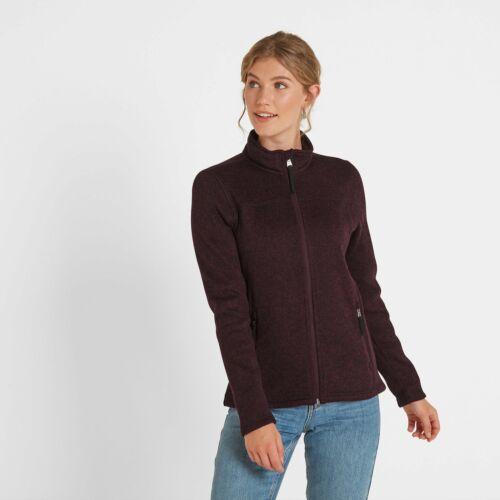 TOG 24 Womens Knit Look Fleece Jacket Dog Walking Outdoors Purple Charlton