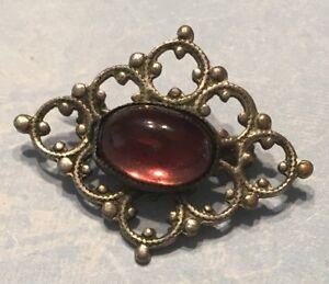 Edwardian amethyst glass bar brooch pin