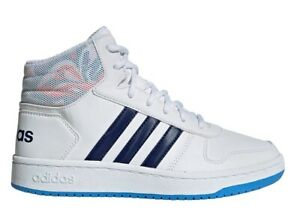 Adidas-HOOPS-MID-2-0-EE8546-Bianco-Scarpe-Donna-Bambino-Sneakers-Ginnastica