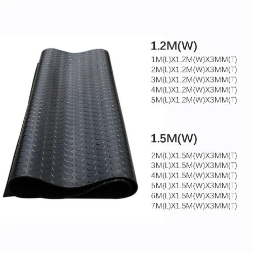 Stud//Penny Coin Patterned Rubber Garage Floor Matting Anti Slip Mat Van Car Roll