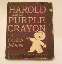 Harold and the Purple Crayon (FIRST EDITION, 1955)- $1.50 in inner flap