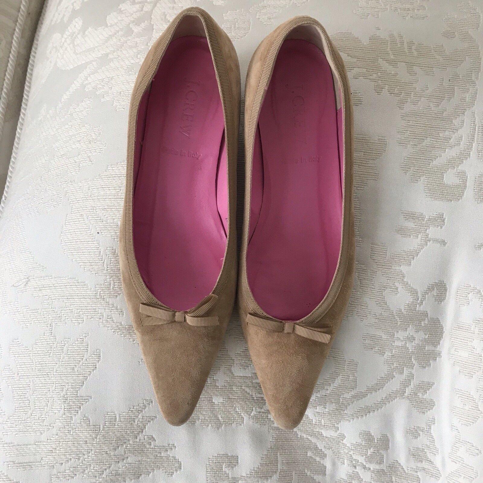 J.  Crew Beige Sue Kitten Heels scarpe SZ  risposta prima volta
