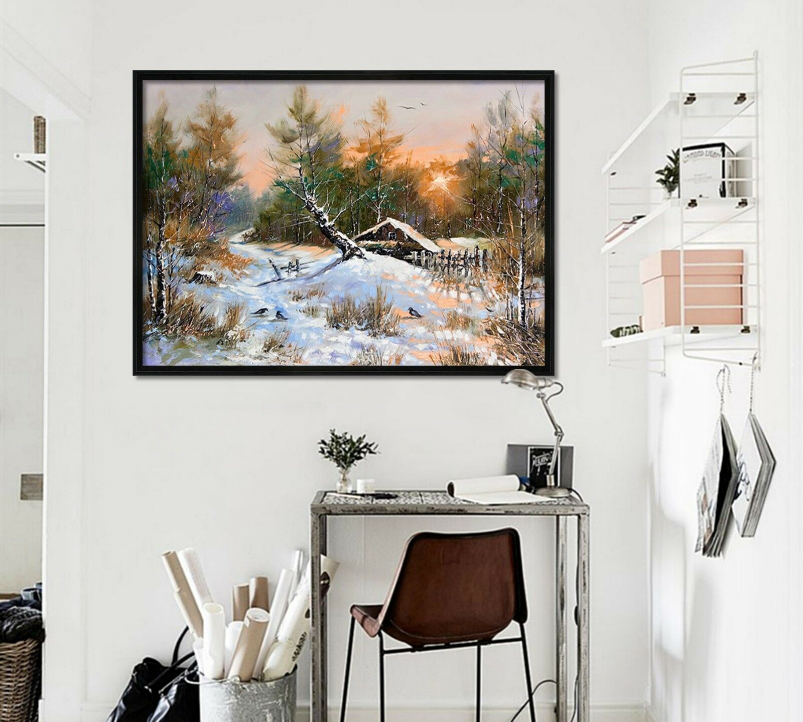 3D Snow Tree 55 Fake Framed Poster Home Decor Print Painting Unique Art Summer