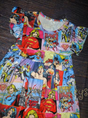 NEW Boutique Cat Wonder Woman Super Girl Girls Heroes Sleeveless Pearl Dress