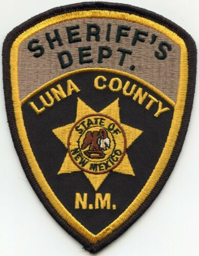 LUNA COUNTY NEW MEXICO NM Brown Background at top of patch SHERIFF POLICE PATCH