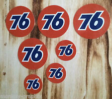 "US V8 Car Ratrod / Retro / Oldschool Sticker "" Set Union 76  "" /  Aufkleber"
