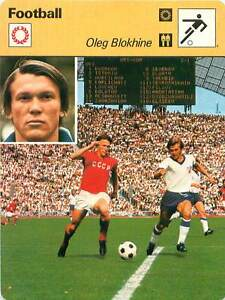FICHE-CARD-Oleg-Blokhine-Soviet-Union-URSS-Forward-Ailier-gauche-FOOTBALL-1970s