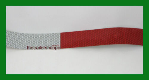 """CONSPICUITY Tape 11/"""" Red 7/"""" White 2/"""" X 18/"""" DOT Approved Reflective Reflector"""
