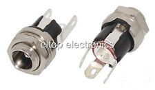 2.1mm DC Power Jack Socket Connector Panel Mount with Single Pole Switch  #PS01