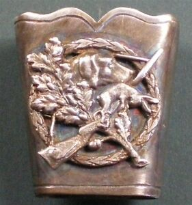 Antiquitäten & Kunst Nachdenklich BirkhahnfederhÜlse Echt Silber Je074