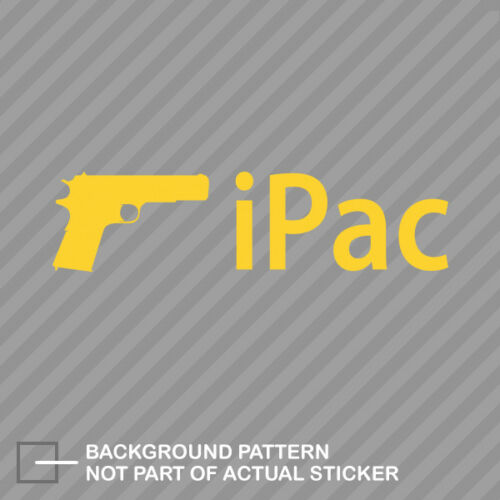 iPac Sticker Decal Vinyl V2
