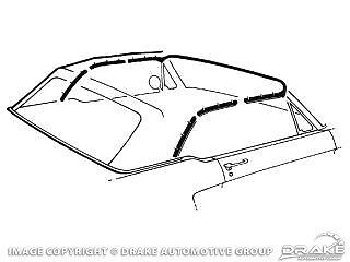 Mustang 1965-1966 Convertible  Weatherstrip Kit with adhesive/'s