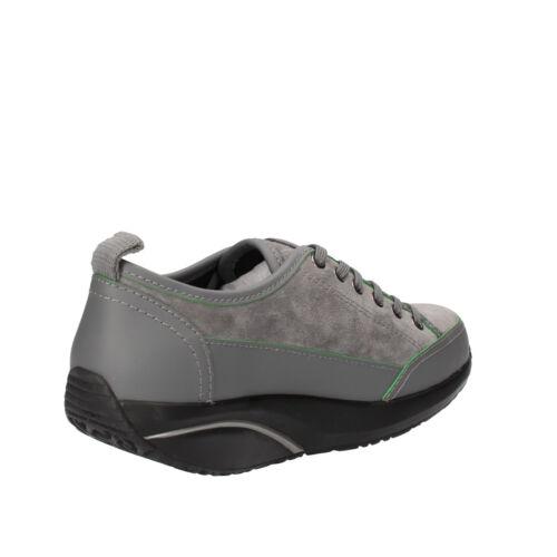 Cuir Mbt Femme 37 En Eu Daim Chaussures Gris b Ab82 Baskets f8rfq