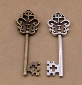 20PCS ancient bronze retro key alloy pendant jewelry accessories 18x57mm DIY