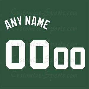 new product 1a5ea 8401c Details about Boston Celtics Basketball Green Jersey Customized Number Kit  un-stitched