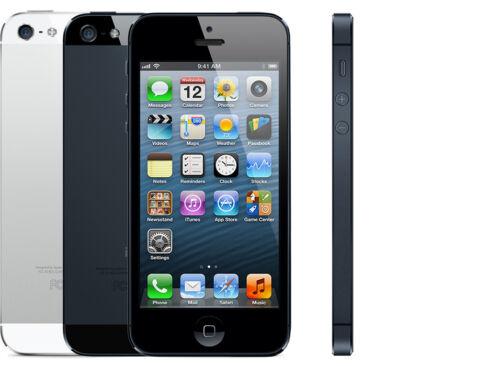 1 of 1 - Apple iPhone 5 - 16GB/32GB - Black or White - Unlocked/EE/Vodafone/Three/02