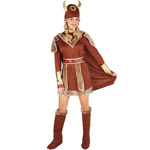 Damenkostum Wikingerin Wikinger Barbare Krieger Kampferin Karneval